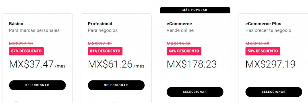 precios de la plataforma zyro , pesos , cliente